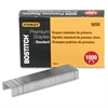 "Bostitch Mini Strip Premium Standard Staples - 105 Per Strip - Standard - 1/4"" Leg - for Paper - Chisel Point - High Carbon Steel - 1000 / Box"