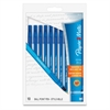 Paper Mate Ballpoint Stick Pens - Medium Point Type - Blue - 10 / Pack
