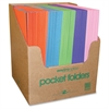 "Roaring Spring Dual Pocket Folders - 9 1/2"" x 11 3/4"" Sheet Size - 2 Pocket(s) - Paper - Assorted - 100 / Carton"