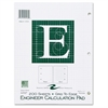 "Roaring Spring Engineer Calculation Pads - 200 Sheets - Printed - Letter 8.50"" x 11"" - Green Paper - 1Each"
