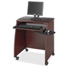"Safco Picco 1953 Computer Stand - 100 lb Load Capacity - 2 x Shelf(ves) - 30.3"" Height x 28.3"" Width x 22.3"" Depth - Laminate - Particleboard - Mahogany"