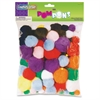 ChenilleKraft Bright Hues Pom Pons - 100 Piece(s) - 100 / Pack - Assorted - Acrylic