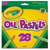 Crayola Jumbo-sized Oil Pestels - Apricot, Black, Blue, Green Blue, Blue-violet, Brown, Gray, Green, Metallic Silver, Orange, Peach, ... - 28 / Set