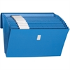 """Expanding Files with Antimicrobial Product Protection - Letter - 8.5"""" x 11"""" - 0.88"""" Expansion - 1 / Box - Blue"""