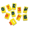 "Sponge Numbers - 10 Numbers - Washable - 2"" Height x 2.93"" Width x 2.31"" Thickness - 10 / Set"