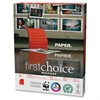 "First Choice MultiUse - Letter - 8.50"" x 11"" - 24 lb Basis Weight - 3 x Hole Punched - Smooth - 98 Brightness - 5000 / Carton - White"