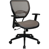 "Office Star Space Latte Air Grid Seat & Back Deluxe Task Chair - 5-star Base - Black, Tan, Brown - 20.50"" Seat Width x 19.50"" Seat Depth - 27"" Width x 26.5"" Depth x 42"" Height"