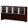 "Mayline Hutch - 71.8"" x 15"" x 38.5"" - Material: Veneer, Wood - Finish: Mahogany"