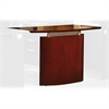 "Mayline Napoli NBDGL Left Hand Bridge - 48"" Width x 24"" Depth x 29.5"" Height - Veneer, Wood - Sierra Cherry"