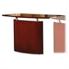 "Mayline Napoli NBDGR Right Hand Bridge - 48"" Width x 24"" Depth x 29.5"" Height - Veneer, Wood - Sierra Cherry"