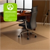 """Cleartex Plush Pile Rectangular Chairmat - Carpeted Floor, Floor, Home, Office, Carpet - 35"""" Length x 47"""" Width x 0.11"""" Thickness - Rectangle - Polycarbonate - Clear"""