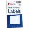 "White Multi-Purpose Labels - Removable Adhesive - 0.50"" Width x 0.75"" Length - Rectangle - White - 1000 / Box"