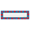 "Carson-Dellosa PreK-Grade 5 Student Nameplates - Apple - 2.87"" Height x 9.50"" Width - Assorted - 1 / Pack"