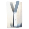 2-hook Magnetic Coat Hook - 2 Hook - 10 lb (4.54 kg) CapacityMetal, Nickel Plated Hook, Base - Satin Aluminum, Satin Aluminum