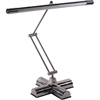 Desk Lamp - 1 x 13 W Bulb - Brushed Steel - Adjustable - Desk Mountable - Silver
