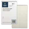 "Business Source Green Tint Steno Notebook - 60 Sheets - Printed - Coilock - 6"" x 9"" - Green Tint Paper - 1Each"