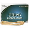 "Alliance Sterling Rubber Bands, #107 - Size: #107 - 7"" Length x 0.62"" Width - 13lb/in - 1 / Box - Rubber - Natural Crepe"