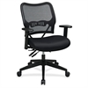 "Space Air Grid 13-37N9WA Deluxe Task Chair - Black Seat - 5-star Base - 20"" Seat Width x 20"" Seat Depth - 27"" Width x 24"" Depth x 41.3"" Height"