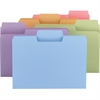 """Smead Colored SuperTab® Folders - Letter - 8 1/2"""" x 11"""" Sheet Size - 3/4"""" Expansion - 1/3 Tab Cut - Assorted Position Tab Location - 11 pt. Folder Thickness - Assorted - Recycled - 24 / Pack"""