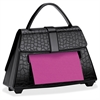 "Post-it Pop-up Notes Purse Dispenser for 3 in x 3 in Notes - 3"" x 3"" - Holds 100 Notes - Black"
