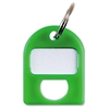 "Color-coded Key Tag - 1"" Length x 0.75"" Width - 1 Each - Plastic - Green"