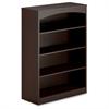 "Mayline Brighton BTB4S36 Bookcase - 36"" Width x 15"" Depth x 50.5"" Height - Mocha"