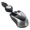 Mini Travel Optical Mouse - Black - Optical - Cable - Black - USB - 1000 dpi - Scroll Wheel
