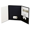 "Oxford Tri-fold Custom Folio Cover - Letter - 8.50"" x 11"" Sheet Size - 100 Sheet Capacity - Black - 4 / Pack"