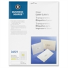 "Business Source Clear Address Label - Permanent Adhesive - 0.50"" Width x 1.75"" Length - Rectangle - Laser - Clear - 2000 / Pack"