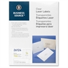 "Business Source Clear Return Address Laser Labels - Permanent Adhesive - 1.33"" Width x 4.25"" Length - Rectangle - Laser - Clear - 700 / Pack"
