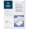 "Business Source Clear Shipping Labels - Permanent Adhesive - 2"" Width x 4.25"" Length - 10 / Sheet - Rectangle - Laser - Clear - 500 / Pack"