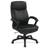 "WorkSmart EC6583 Executive High Back Chair with Match Stitching - Leather Black Seat - 5-star Base - 18.75"" Seat Width x 19.75"" Seat Depth - 26.8"" Width x 26.3"" Depth x 48.5"" Height"