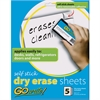 "Pacon Adhesive Dry Erase Sheets - White Surface - 11"" (0.9 ft) Width x 8.5"" (0.7 ft) Length - 5 / Pack"