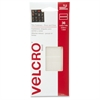 "VELCRO® Brand Press-and-close Fasteners - 0.50"" Width x 1.50"" Length - Adhesive Backing - 36 / Pack - Natural"