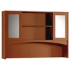 "Mayline Brighton BTDHG72 Hutch - 72"" Width x 15"" Depth x 50.5"" Height - 2 Door - Cherry, Laminate"