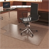 "Deflect-o UltraMat High Pile Chair Mat with Lip - Carpeted Floor - 53"" Length x 45"" Width - Lip Size 12"" Length x 25"" Width - Vinyl - Clear"