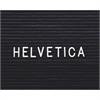 "Ghent 1"" Helvetica Letterboard Letters - Learning Theme/Subject - 1"" Height - White - Plastic - 1 Each"