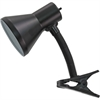 Advantus Ledu Clip-on Gooseneck Lamp - 60 W Fluorescent, Incandescent Bulb - Metal - Black