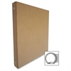 "Recycled Binder - 1/2"" Binder Capacity - 3 x Ring Fastener(s) - Chipboard - Brown Kraft - Recycled - 1 / Each"