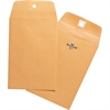 "Business Source Heavy-duty Clasp Envelopes - Clasp - #25 - 4.63"" Width x 6.75"" Length - 28 lb - Clasp - Kraft - 100 / Box - Brown Kraft"