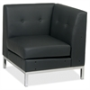 "Wall Street Corner Chair - Faux Leather Black Seat30.5"" Width x 28"" Depth x 30"" Height"