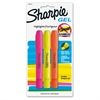 Sharpie Gel Highlighters - Assorted Gel-based Ink - 3 / Set