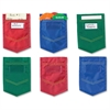 "Learning Resources Magnetic Mini Pockets Set - 6"" Height - Whiteboard - Multi, Green, Blue - Nylon - 6 / Set"