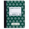 "Environotes Recycled Composition Book - 80 Sheets - Printed - Sewn/Tapebound 9.75"" x 7.50"" - Green Cover - Recycled - 1Each"