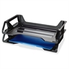 "OIC Side Loading Letter Trays - 5.4"" Height x 15.1"" Width x 8.9"" Depth - Desktop - Recycled - Black - Plastic - 2 / Pack"