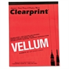 "Clearprint ClearPrint Translucent Vellum - 50 Sheets - Plain - 16 lb Basis Weight - Letter 8.50"" x 11"" - White Paper - Smudge Resistant, Crack Resistant - 50 / Pad"