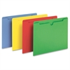 "Colored File Jacket - Letter - 8 1/2"" x 11"" Sheet Size - 50 Sheet Capacity - Assorted - 100 / Box"