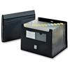 "Desktop Expanding File with Flap - Letter - 8 1/2"" x 11"" Sheet Size - 7/8"" Expansion - 2 Pocket(s) - Polypropylene - Black - 1 Each"