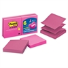 "Post-it Pop-up Notes, 3 in x 3 in, Pink - 600 - 3"" x 3"" - Square - 100 Sheets per Pad - Unruled - Pink - Paper - Pop-up, Repositionable - 6 Pad"