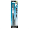 Plumix Refillable Fountain Stick Pen - Medium Point Type - 0.58 mm Point Size - Refillable - Black - Black Barrel - 1 Each
